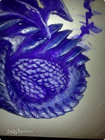 Мастер-класс, Поделка, изделие,  Лепка, Роспись, : Дракон из солёного теста. Часть 2. Краска, Тесто соленое . Фото 12