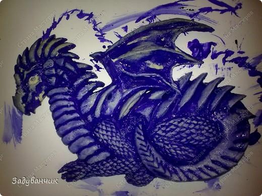 Мастер-класс, Поделка, изделие,  Лепка, Роспись, : Дракон из солёного теста. Часть 2. Краска, Тесто соленое . Фото 3