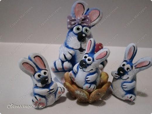 Игрушка, Мастер-класс, Поделка, изделие Лепка: Лепим зайца из теста  Тесто соленое. Фото 1