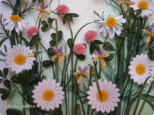 Картина, панно, рисунок Квиллинг: Луговые цветы Бумага День рождения. Фото 4