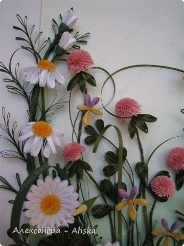 Картина, панно, рисунок Квиллинг: Луговые цветы Бумага День рождения. Фото 3
