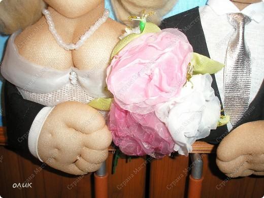 Куклы, Мастер-класс Шитьё: М.к партретных кукол. Бусинки, Капрон, Картон, Клей, Кружево, Нитки, Поролон, Пуговицы, Ткань День семьи. Фото 37