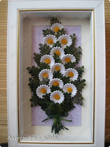 Картина, панно, рисунок Квиллинг: Ромашки Бумага. Фото 1