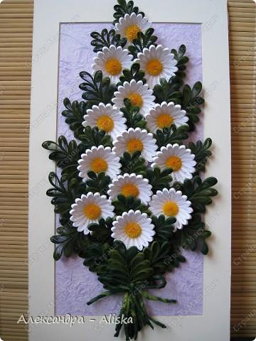 Картина, панно, рисунок Квиллинг: Ромашки Бумага. Фото 2