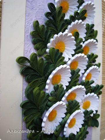Картина, панно, рисунок Квиллинг: Ромашки Бумага. Фото 3