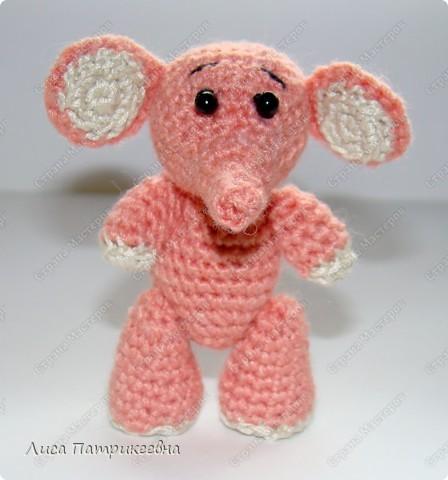Игрушка, Мастер-класс Вязание крючком: Розовый слоненок Пряжа. Фото 1