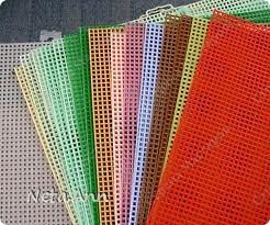 Материалы и инструменты Вышивка: Пластиковая канва. Путеводитель. Канва, Нитки. Фото 1