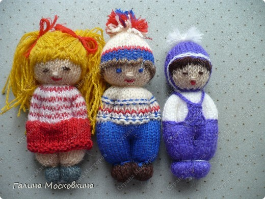 Мастер-класс Вязание: Куколки для внучек Нитки. Фото 1