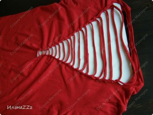 Гардероб, Мастер-класс Моделирование: Легким движением ножниц футболка превращается в ... стильный топ Ткань Отдых. Фото 9