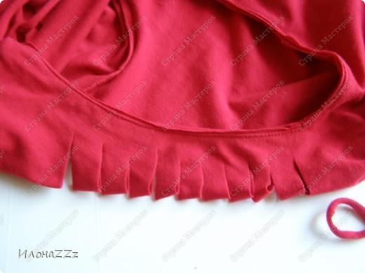 Гардероб, Мастер-класс Моделирование: Легким движением ножниц футболка превращается в ... стильный топ Ткань Отдых. Фото 13