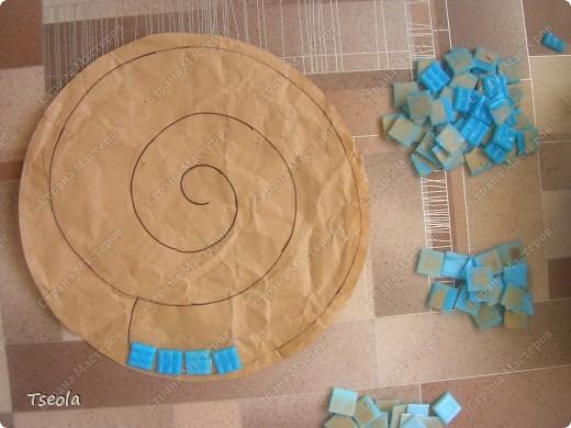 Мастер-класс, Поделка, изделие Мозаика: Садовая плитка своими руками. Фото 3
