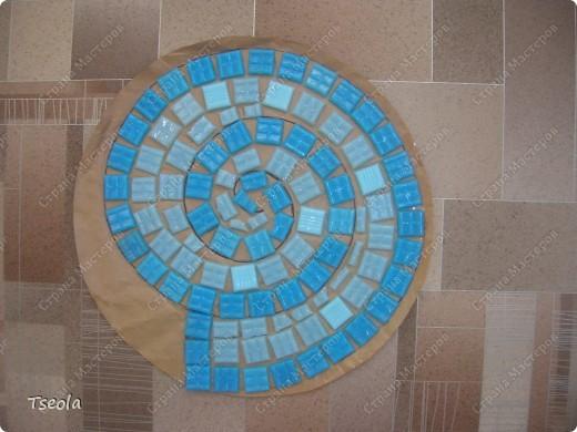 Мастер-класс, Поделка, изделие Мозаика: Садовая плитка своими руками. Фото 4