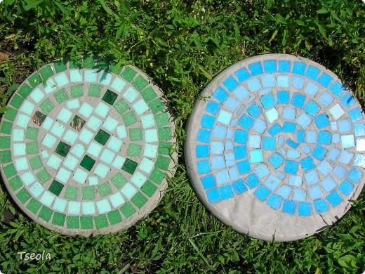 Мастер-класс, Поделка, изделие Мозаика: Садовая плитка своими руками. Фото 11