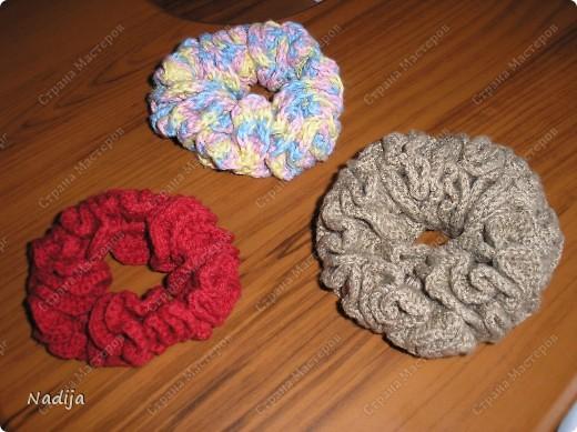 Гардероб, Мастер-класс Вязание крючком: Резинки для волос Нитки. Фото 1