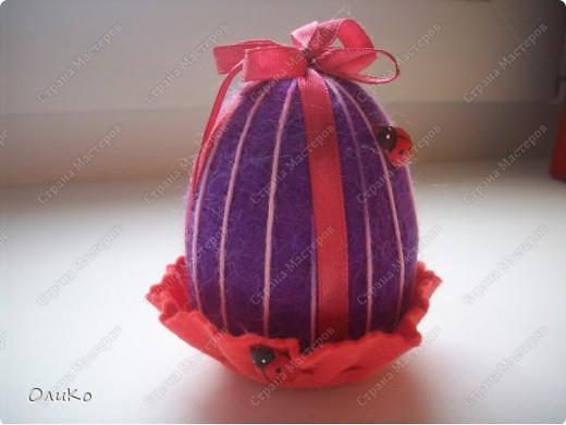 Поделка, изделие Валяние (фильцевание): Пасхальные яйца из шерсти Шерсть Пасха. Фото 2