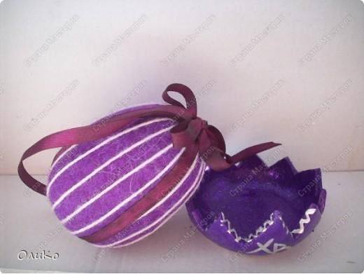 Поделка, изделие Валяние (фильцевание): Пасхальные яйца из шерсти Шерсть Пасха. Фото 5