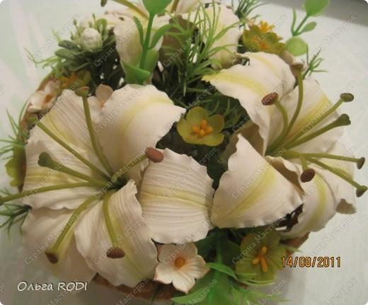 Поделка, изделие, Флористика Лепка: И снова лилии Фарфор холодный. Фото 1