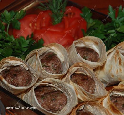 Кулинария, Мастер-класс Рецепт кулинарный: Мини-люля, запеченные в лаваше Продукты пищевые. Фото 9