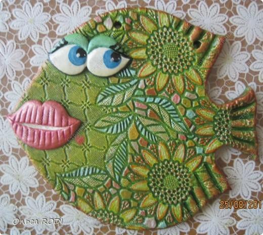 Поделка, изделие Лепка: Гламурная рыбка Тесто соленое. Фото 1