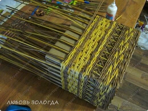 Мастер-класс, Поделка, изделие Плетение: Кузовок и мини МК Бумага газетная. Фото 6