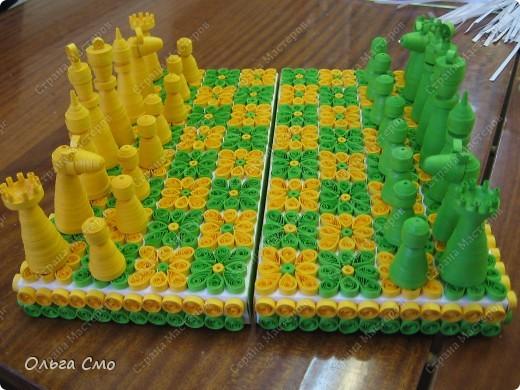Мастер-класс, Педагогический опыт, Поделка, изделие Квиллинг: Шахматы + МК Бумажные полосы, Картон. Фото 1
