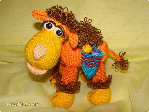Игрушка, Мастер-класс Вязание крючком: Верблюжонок Жоржик Пряжа Отдых. Фото 1