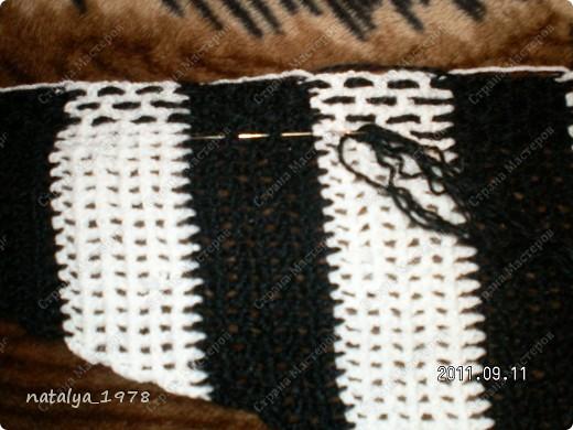 Гардероб, Мастер-класс, Презент от Голубки Вязание, Вязание крючком: Черно-белый бактус Пряжа. Фото 3