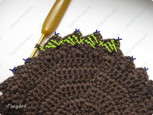 Гардероб, Мастер-класс Вязание крючком: Вяжем вместе: Кепочку Пряжа. Фото 10