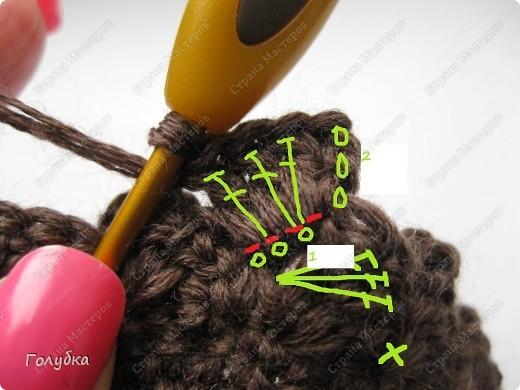 Гардероб, Мастер-класс Вязание крючком: Вяжем вместе: Кепочку Пряжа. Фото 8