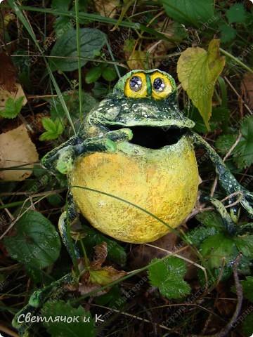 Мастер-класс Папье-маше: Лягушонок из...картошки (МК) Бумага газетная, Клей, Краска, Скотч. Фото 1