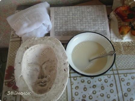 Мастер-класс Папье-маше: Как я делаю маски Бумага газетная, Глина. Фото 3
