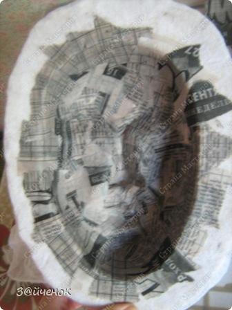 Мастер-класс Папье-маше: Как я делаю маски Бумага газетная, Глина. Фото 8