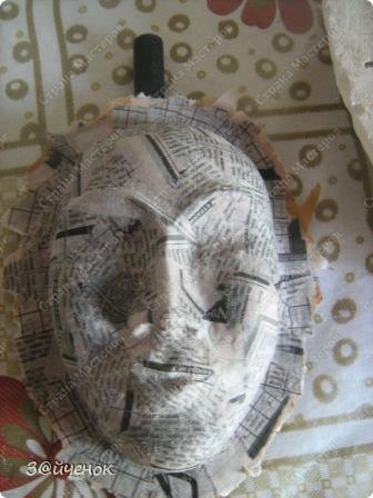 Мастер-класс Папье-маше: Как я делаю маски Бумага газетная, Глина. Фото 11