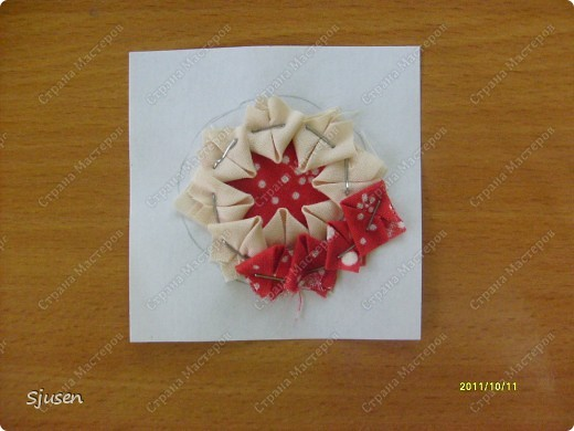 Карточка АТС, Мастер-класс Артишок: Елочные шарики-2 + МК Ткань Новый год. Фото 7