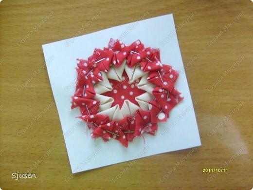 Карточка АТС, Мастер-класс Артишок: Елочные шарики-2 + МК Ткань Новый год. Фото 8