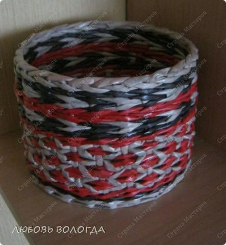 Мастер-класс, Поделка, изделие Плетение:  туесок Ромбики Бумага газетная. Фото 1