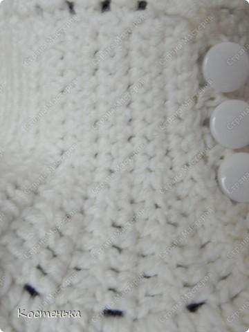 Гардероб Вязание крючком: Манишка крючком Пряжа, Пуговицы.  Фото 6.