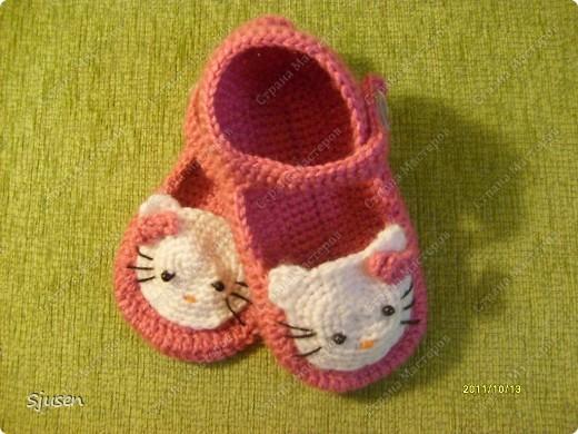 Вязание детских тапочек