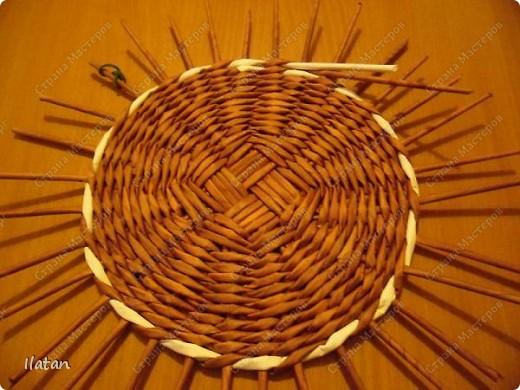 Мастер-класс Плетение: МК по ВЫПЛЕТЕНИЮ КРУГЛОГО ДОНЫШКА Бумага. Фото 10