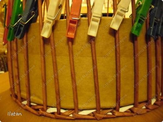 Мастер-класс Плетение: МК по ВЫПЛЕТЕНИЮ КРУГЛОГО ДОНЫШКА Бумага. Фото 14