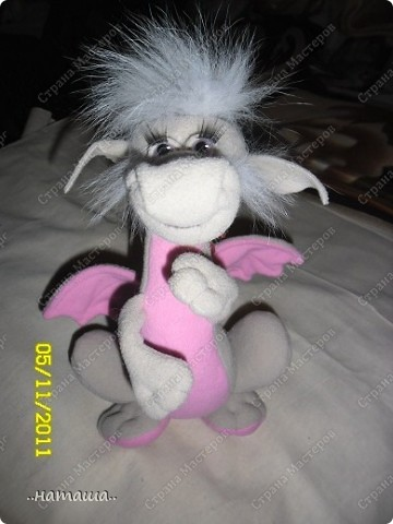 Игрушка Шитьё: Делаем дракончика(маленький МК. 1 часть) Бусинки, Проволока, Ткань Новый год. Фото 1