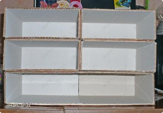 Мастер-класс Моделирование: Комод для мелочей из картона. МК Бумага, Картон, Клей, Коробки, Материал бросовый. Фото 5