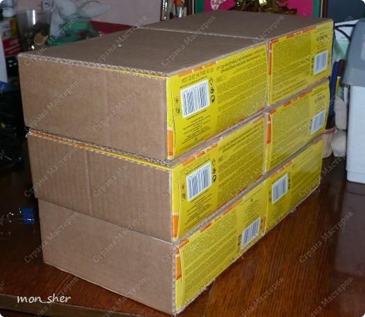 Мастер-класс Моделирование: Комод для мелочей из картона. МК Бумага, Картон, Клей, Коробки, Материал бросовый. Фото 4