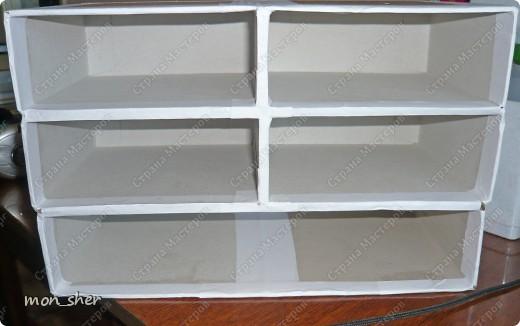 Мастер-класс Моделирование: Комод для мелочей из картона. МК Бумага, Картон, Клей, Коробки, Материал бросовый. Фото 7