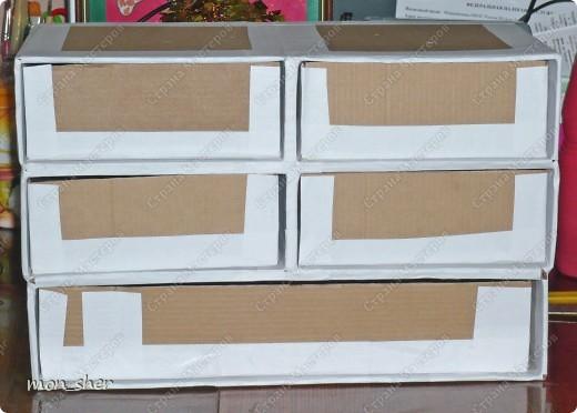 Мастер-класс Моделирование: Комод для мелочей из картона. МК Бумага, Картон, Клей, Коробки, Материал бросовый. Фото 14