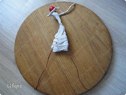 Внеклассная работа, Мастер-класс Папье-маше: Ватное папье-маше Бумага, Вата, Проволока. Фото 6