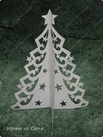 Поделка, изделие Вырезание, Вырезание силуэтное, Вырезание симметричное, Вытынанка: Новогодние вытынанки - повторюшки Бумага Новый год, Отдых, Рождество. Фото 1