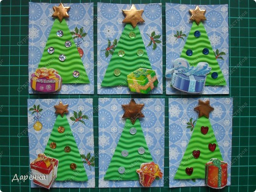 Новогодние поделки из гофрированного картона