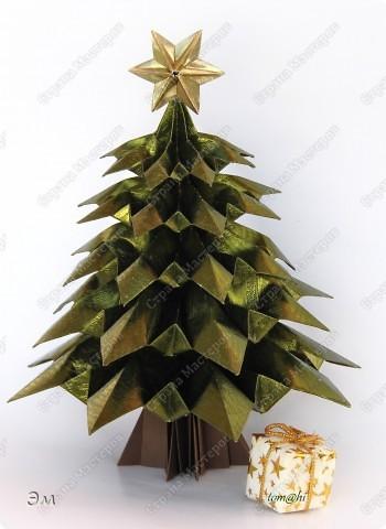 Поделка, изделие Оригами: в лесу родились ёлочки  Бумага Новый год, Рождество. Фото 1