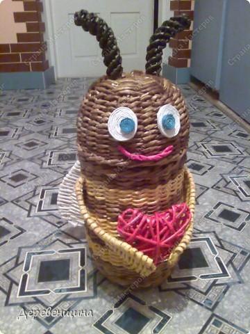 Мастер-класс Плетение: Пчела Майя. МК для Аришиной мамы. Бумага газетная. Фото 1
